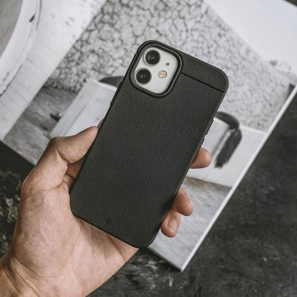 CAUDABE iPhone 12 Sheath 極簡減震手機殼 - 磨石黑