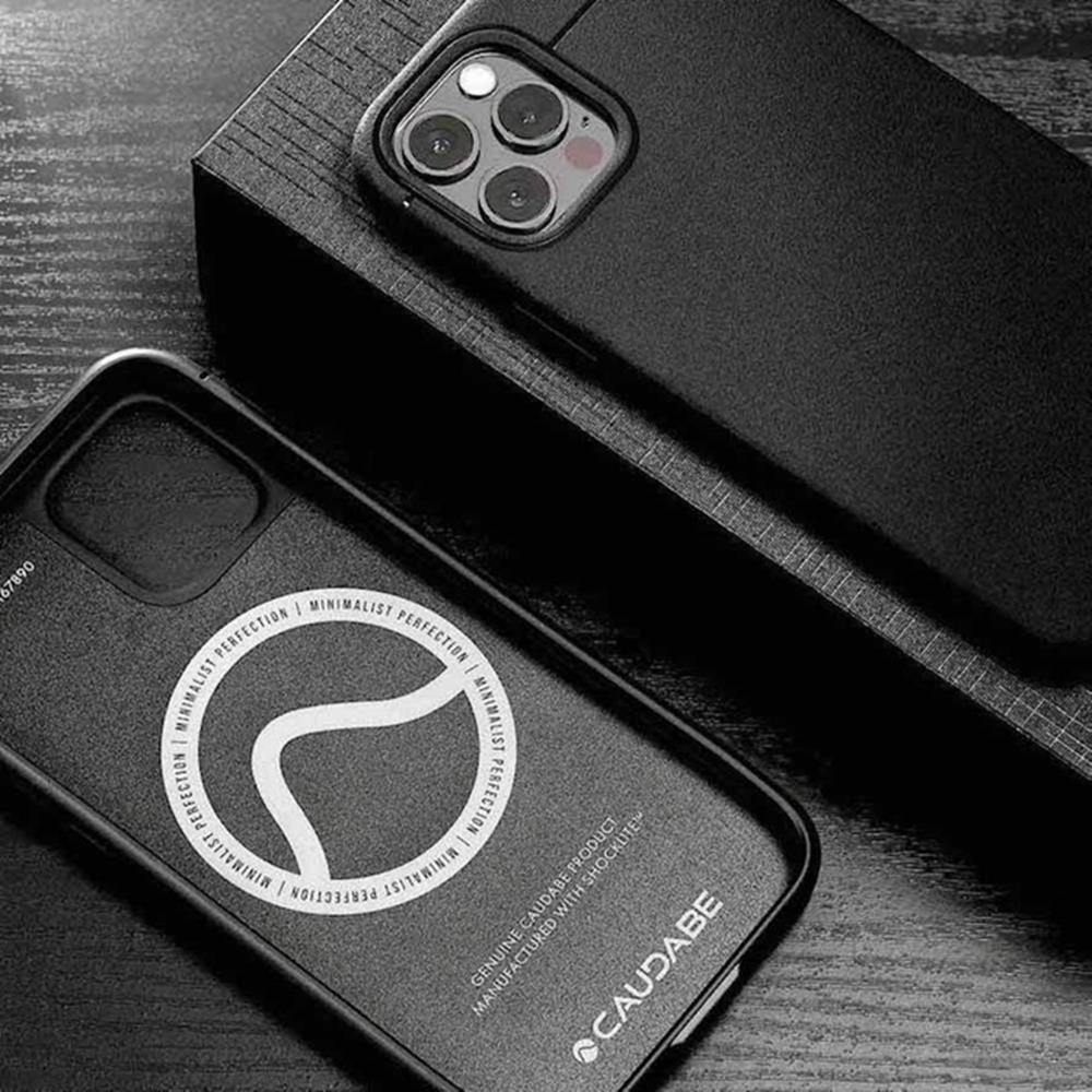 CAUDABE iPhone 12 MagSafe Sheath 極簡磁吸手機殼 - 磨石黑