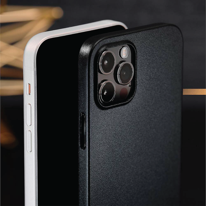 (複製)CAUDABE iPhone 12 Lucid Clear 極透防摔手機殼 - 石墨黑