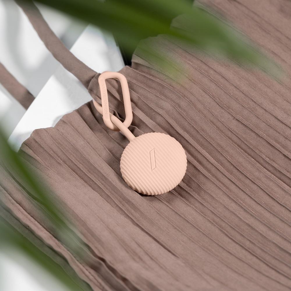 NATIVE UNION|AirTag Curve 矽膠吊環保護套 - 蜜桃粉