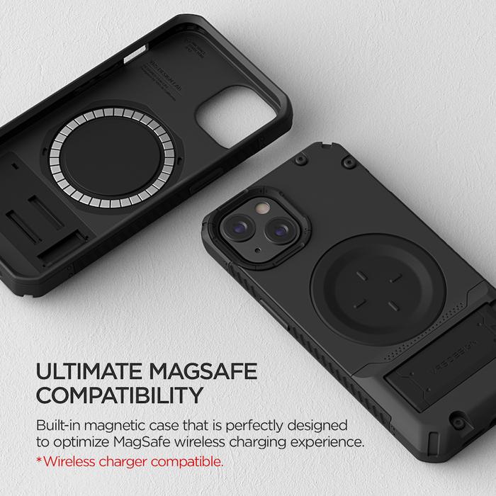 VRS Design MagSafe QT Pro - iPhone 13 手機殼 - 正黑