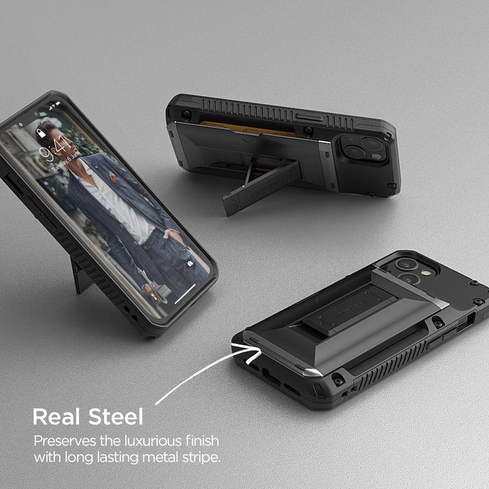 VRS Design|Damda G-Hybrid - iPhone 12 手機殼 -  正黑