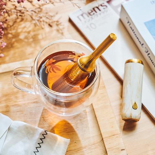 初芳宇 磁吸沏茶筆(鈦金雅士白)