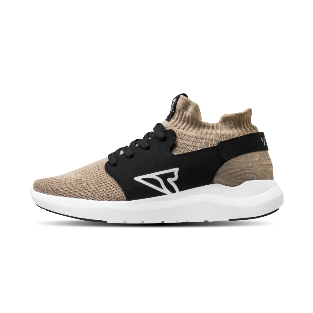 V-TEX 地表最強耐水鞋 - HELLO輕量版 - 亞麻/白底