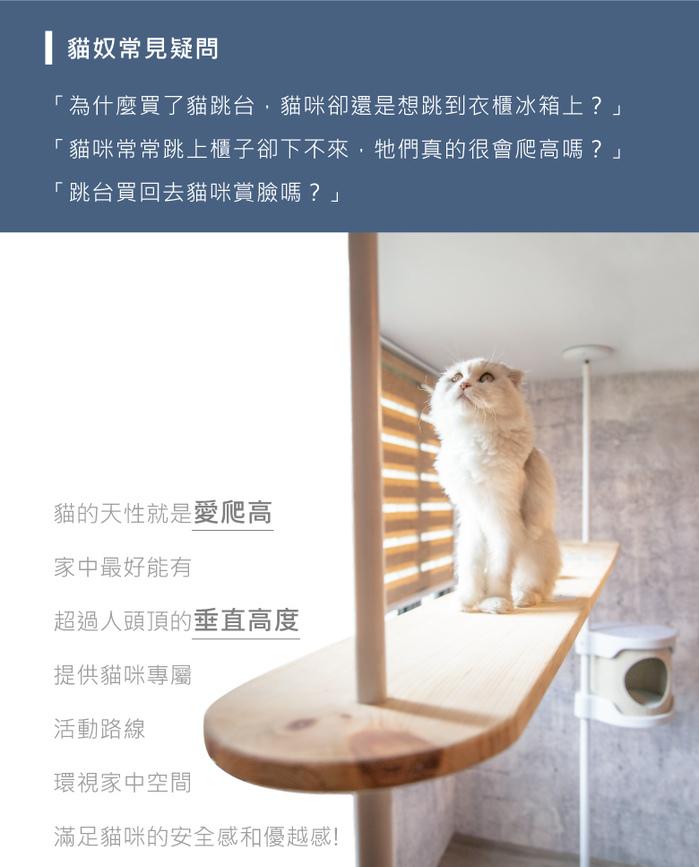Hug 抱抱貓跳台 - 標準款 - 專為您的愛貓打造
