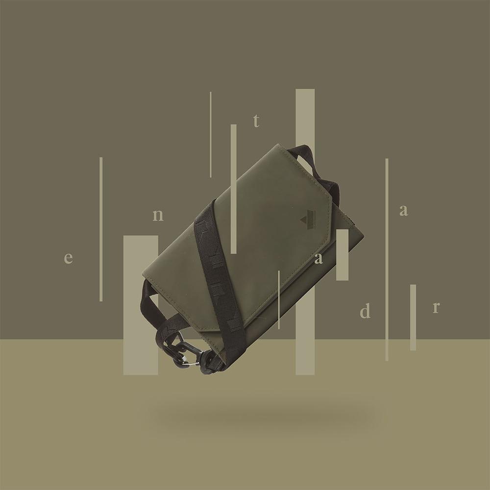 Entadar|多功能超核心機能 斜背/側背小包 - 墨綠