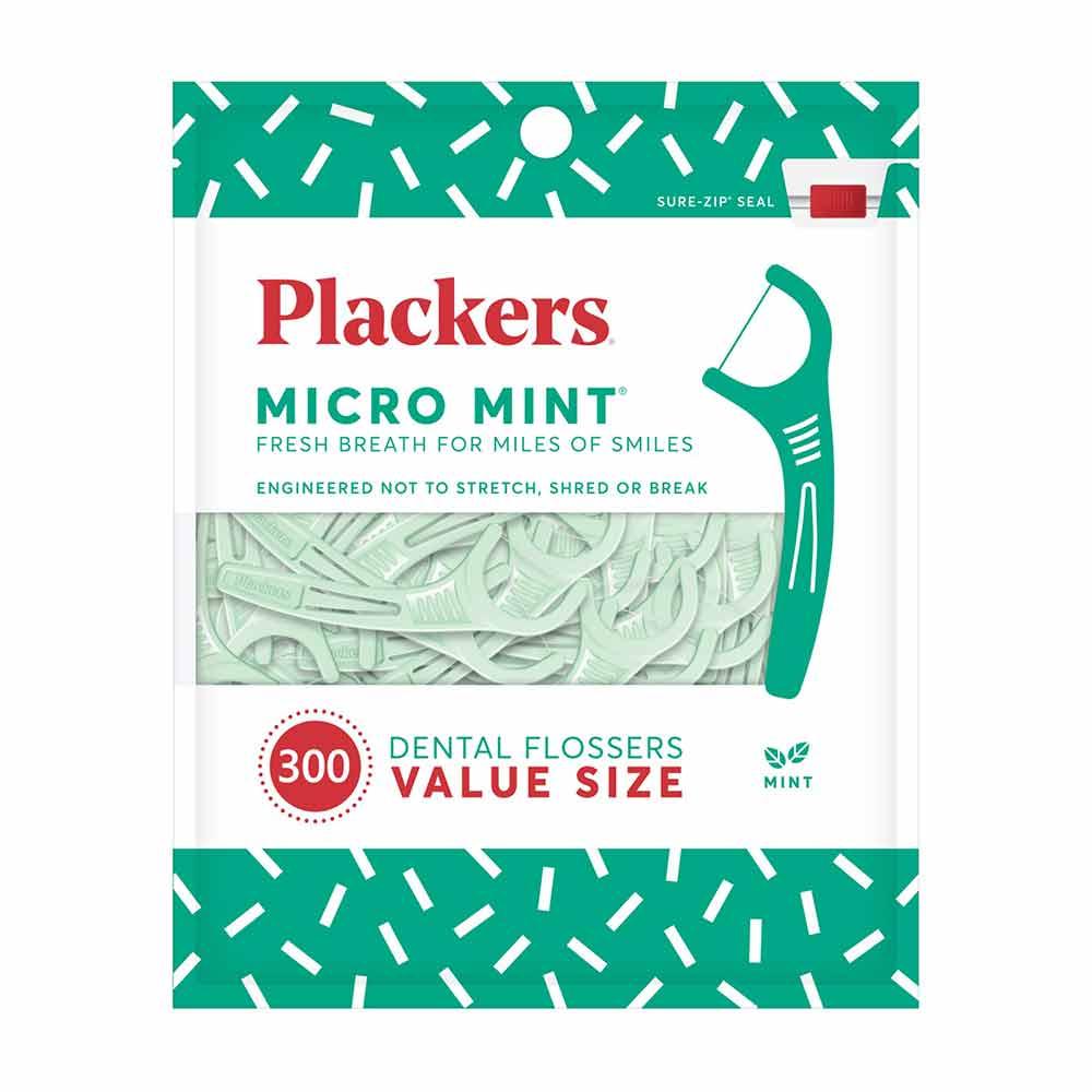 美國 Plackers 派樂絲|微薄荷清涼牙線棒(300入)
