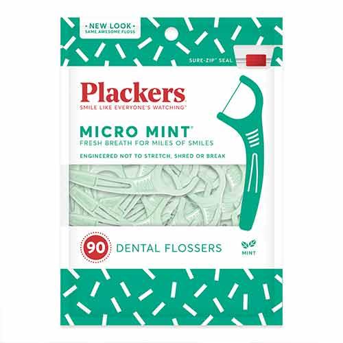 美國 Plackers 派樂絲 微薄荷清涼牙線棒(90入)