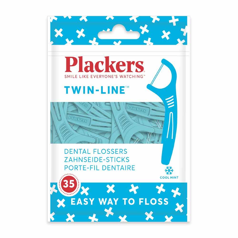 美國 Plackers 派樂絲 雙線倍潔亮白牙線棒(35入)