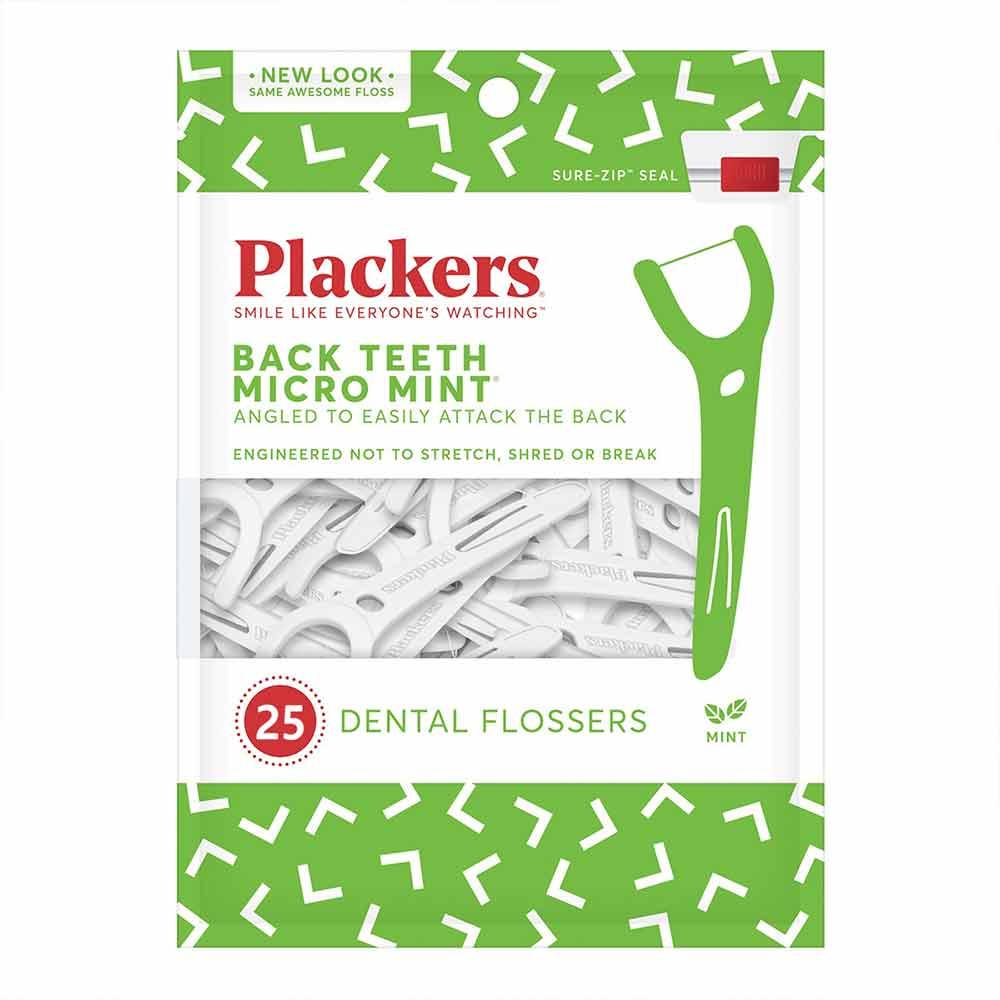 美國 Plackers 派樂絲 臼齒專用薄荷牙線棒(25入)