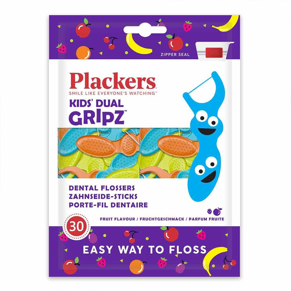 美國 Plackers 派樂絲|兒童果香含氟牙線棒(30入)