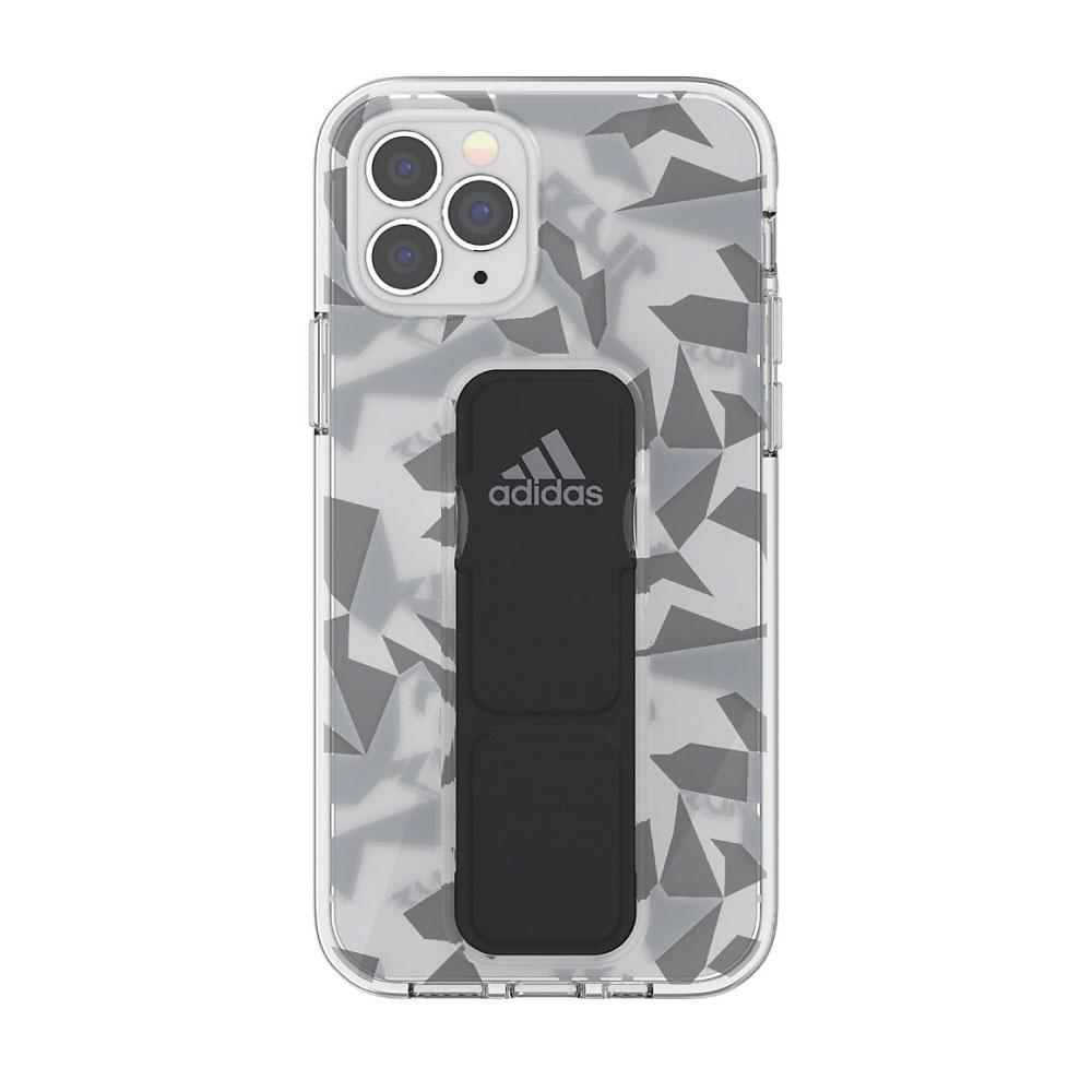 Adidas iPhone 12 / 12 Pro Sport 幾何圖形支架 手機殼(黑色)