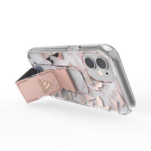 Adidas iPhone 12 mini Sport 幾何圖形支架 手機殼(粉色)