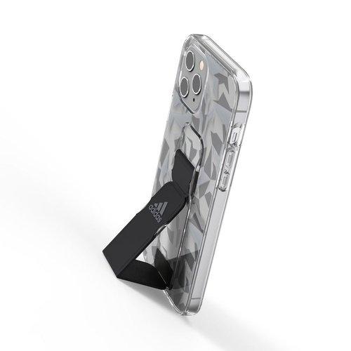 Adidas iPhone 12 Pro Max Sport 幾何圖形支架 手機殼(黑色)