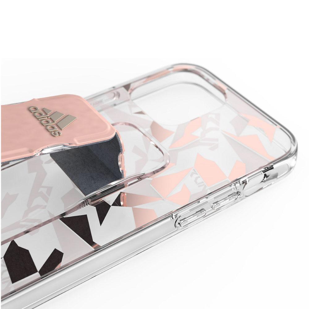 Adidas|iPhone 12 Pro Max Sport 幾何圖形支架 手機殼(粉色)