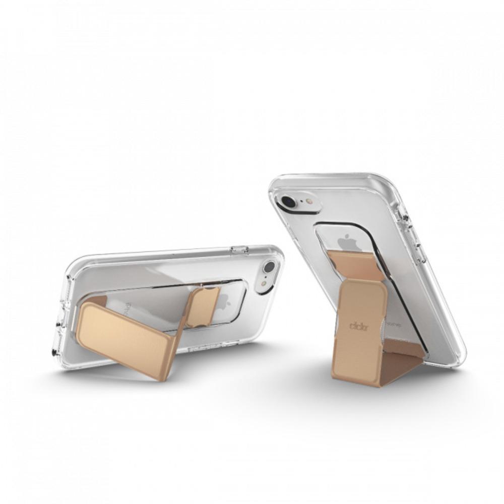 CLCKR|iPhone 6/6s/7/8/SE2 透明支架 手機殼(金色)