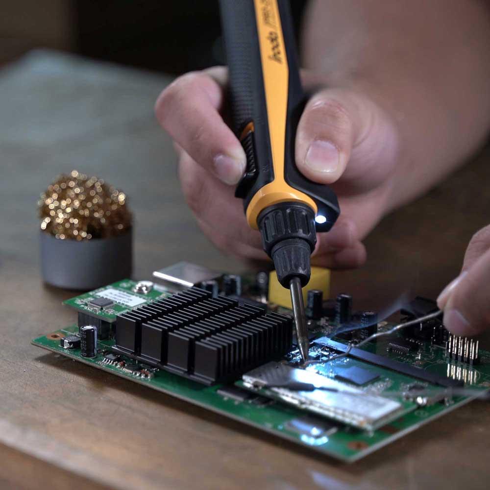 Iroda|PRO-25LK 瞬熱高效型鋰電池烙鐵3件組