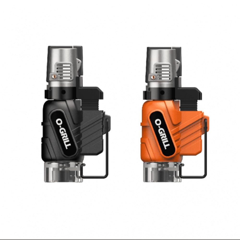 O-Grill|GJ-100 安全防風打火機 黑橘2入組