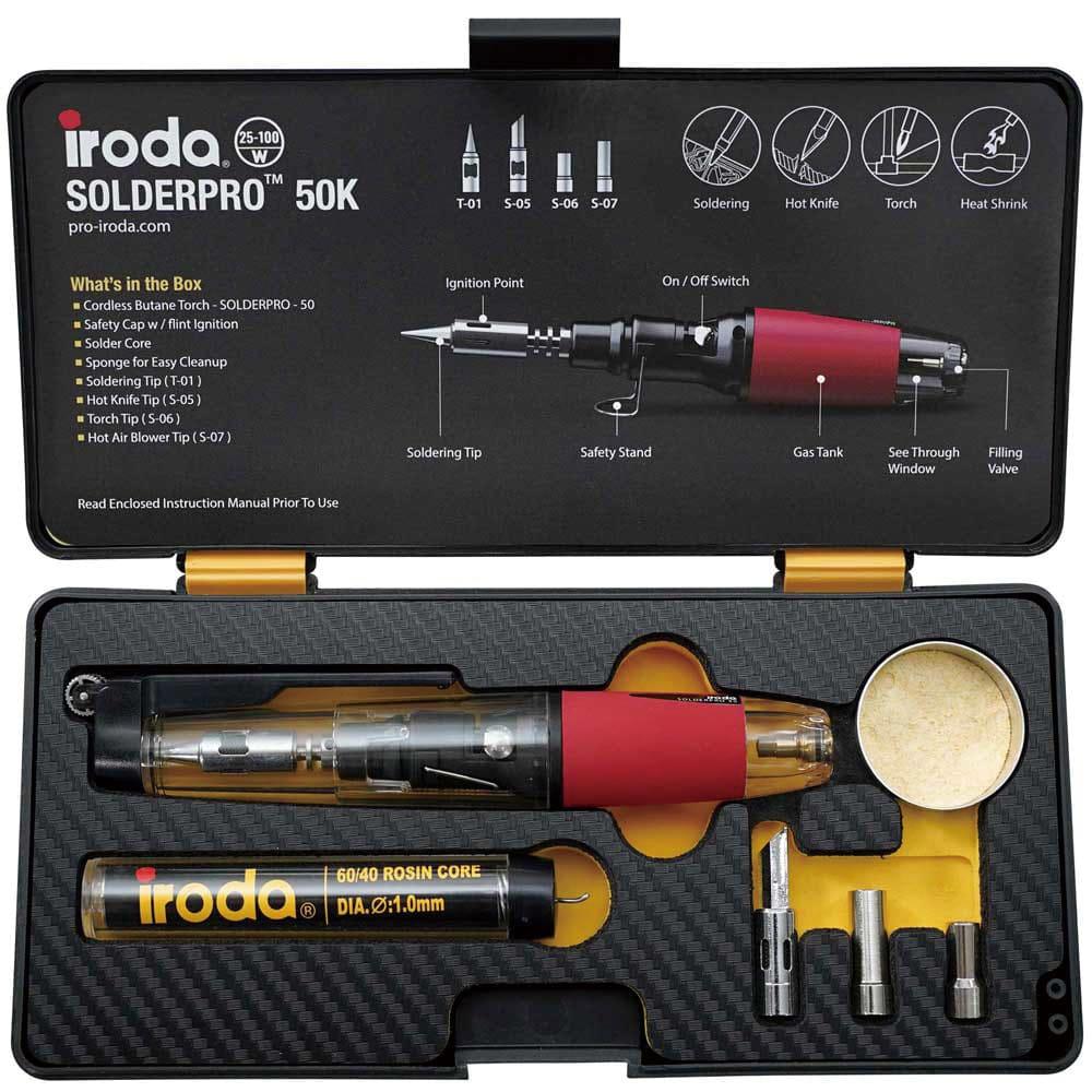 Iroda|PRO-50K 入門款手動點火瓦斯烙鐵4件組