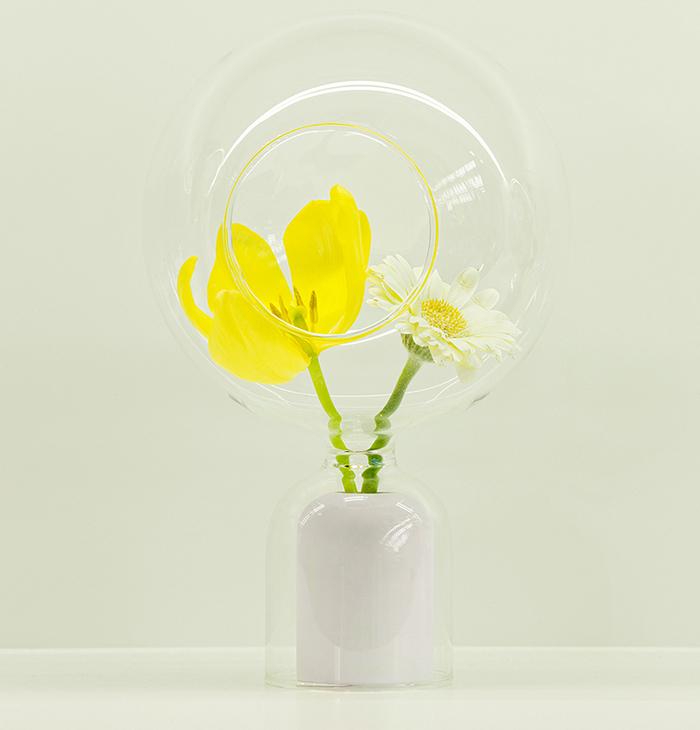 (複製)佐藤大Nendo x Zens|玻璃罩搭長花瓶(粉紅)