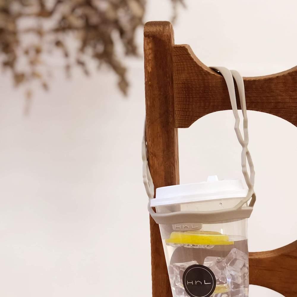 HhL Design|拎杯-矽膠防水飲料提袋2.0(燕麥奶)
