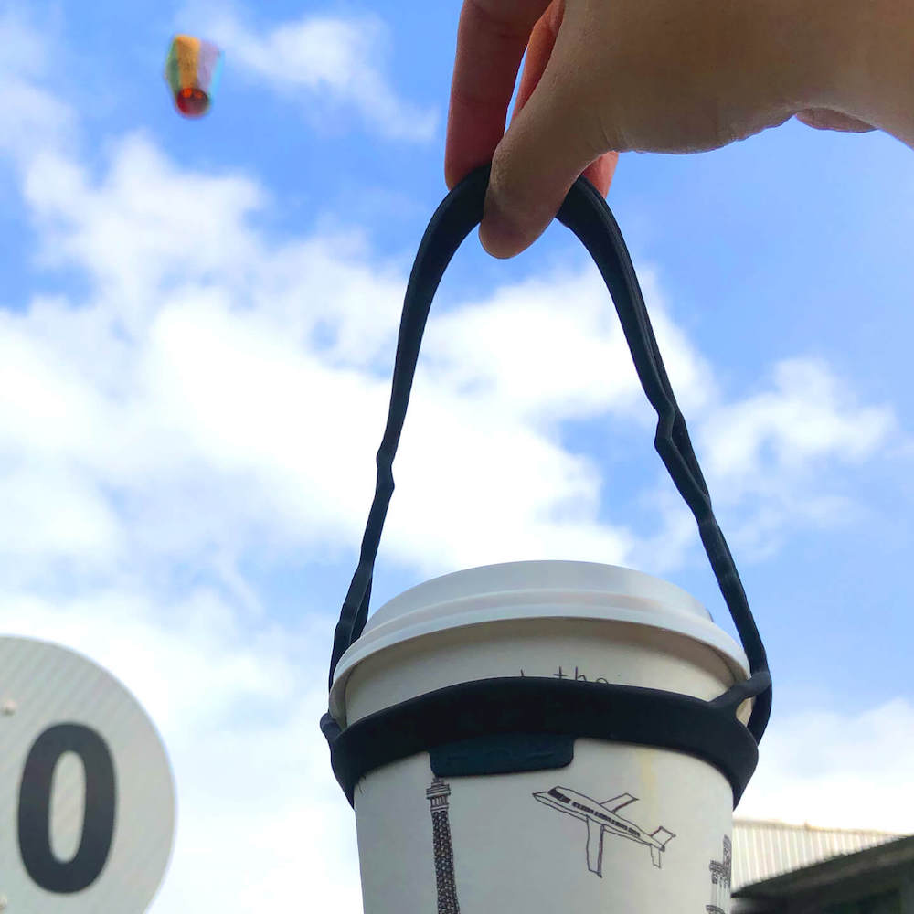 HhL Design 拎杯-矽膠防水飲料提袋2.0(不敗黑)
