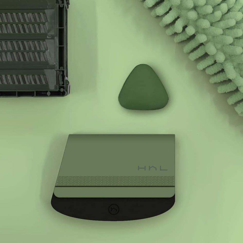 HhL Design|毛毛皂-布面除毛橡皮擦組(石墨綠)