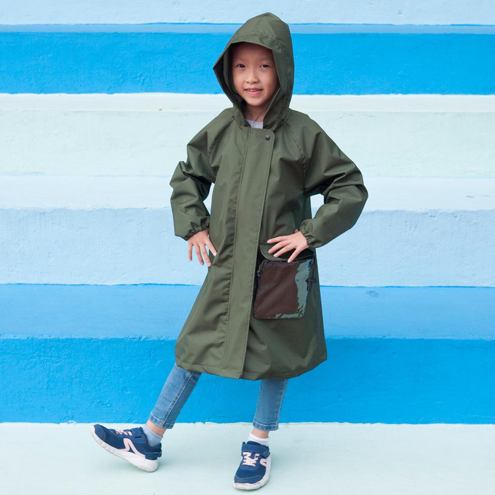 SweetThing|新・兒童風雨衣(探險綠)