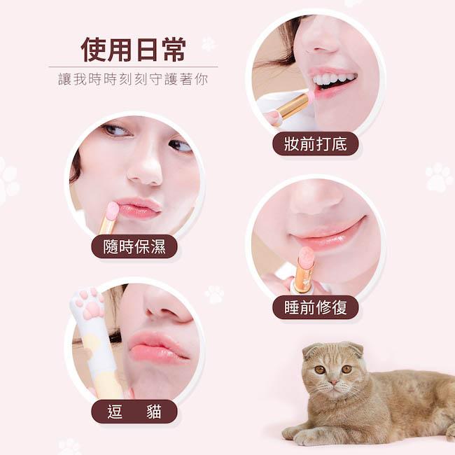 CATISS愷締思|貓掌護唇膏 - 白貓純淨水潤 3g