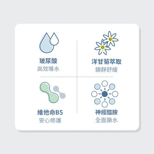 Catiss愷締思|藍貓洋甘菊 玻尿酸保濕舒緩面膜6入/盒