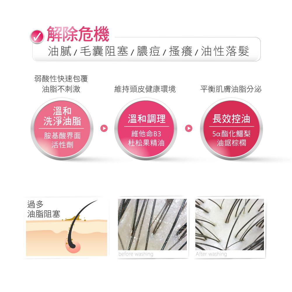 AROMASE 艾瑪絲 5α鳶尾玫瑰高效控油洗髮精1000ml