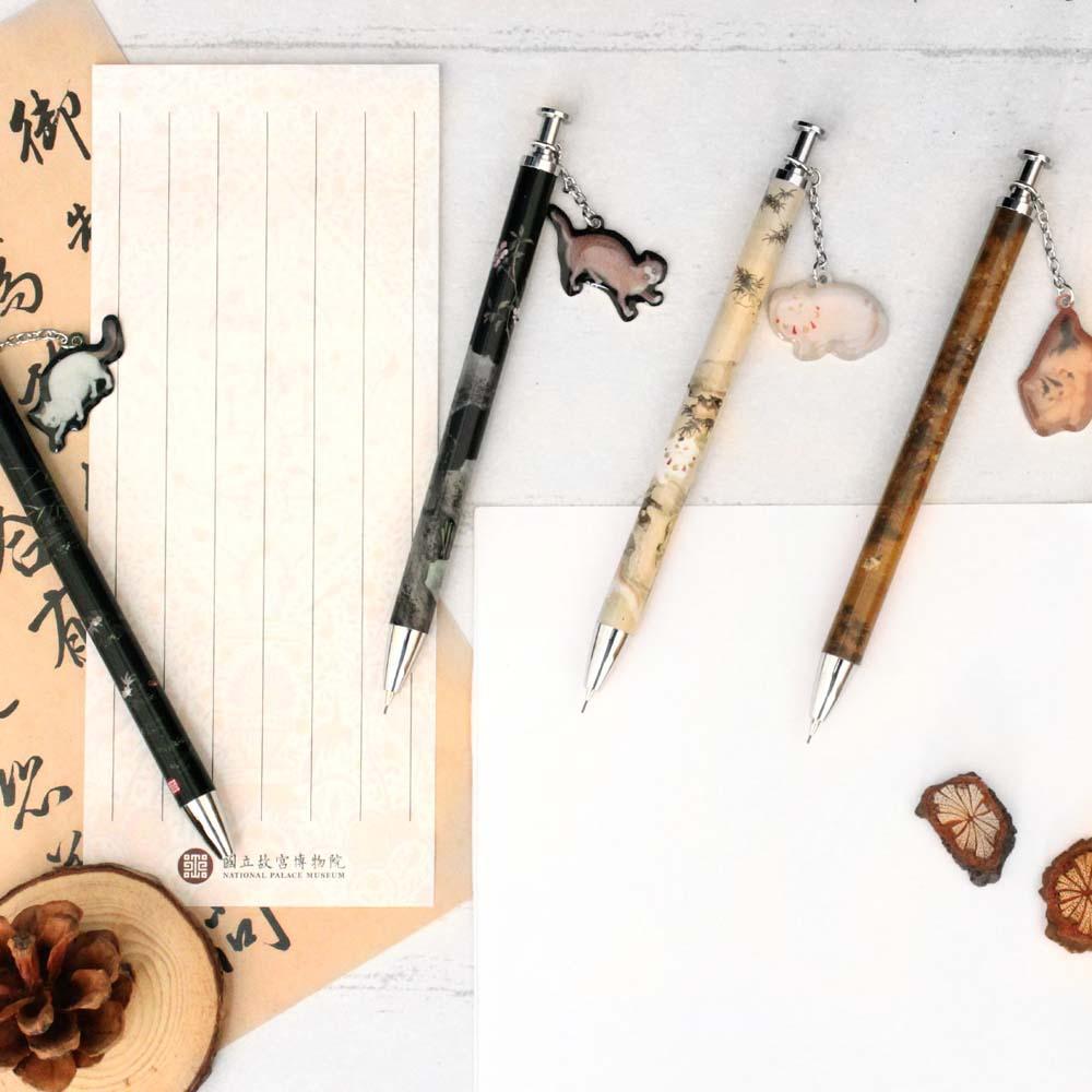 故宮精品   貍奴魚藻自動鉛筆