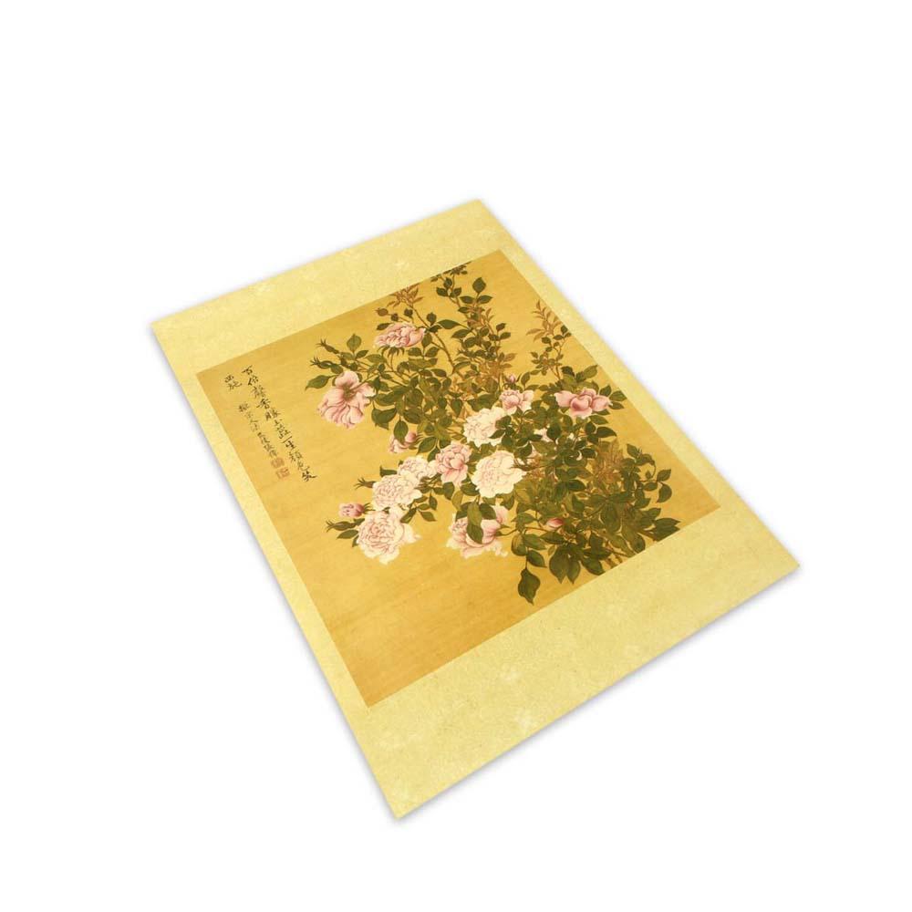 故宮精品 | 清張偉寫生花卉冊月季明信片