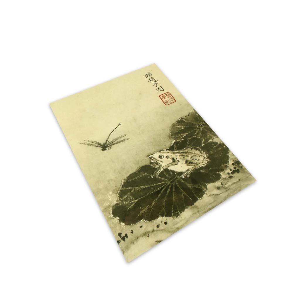 故宮精品 | 寫生花鳥冊荷蛙蜻蜓明信片