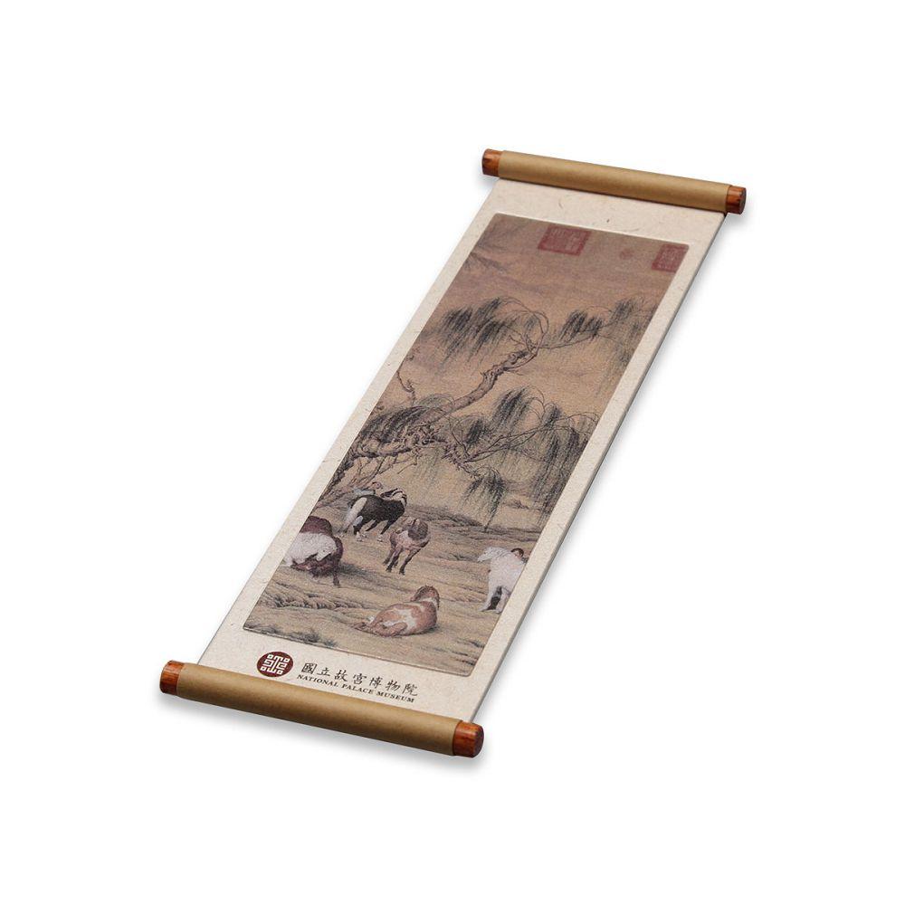 故宮精品|八駿圖卷軸磁鐵