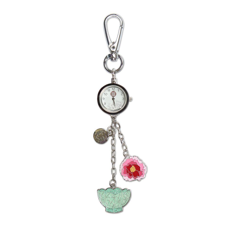 故宮精品 蓮花溫碗牡丹掛錶包飾