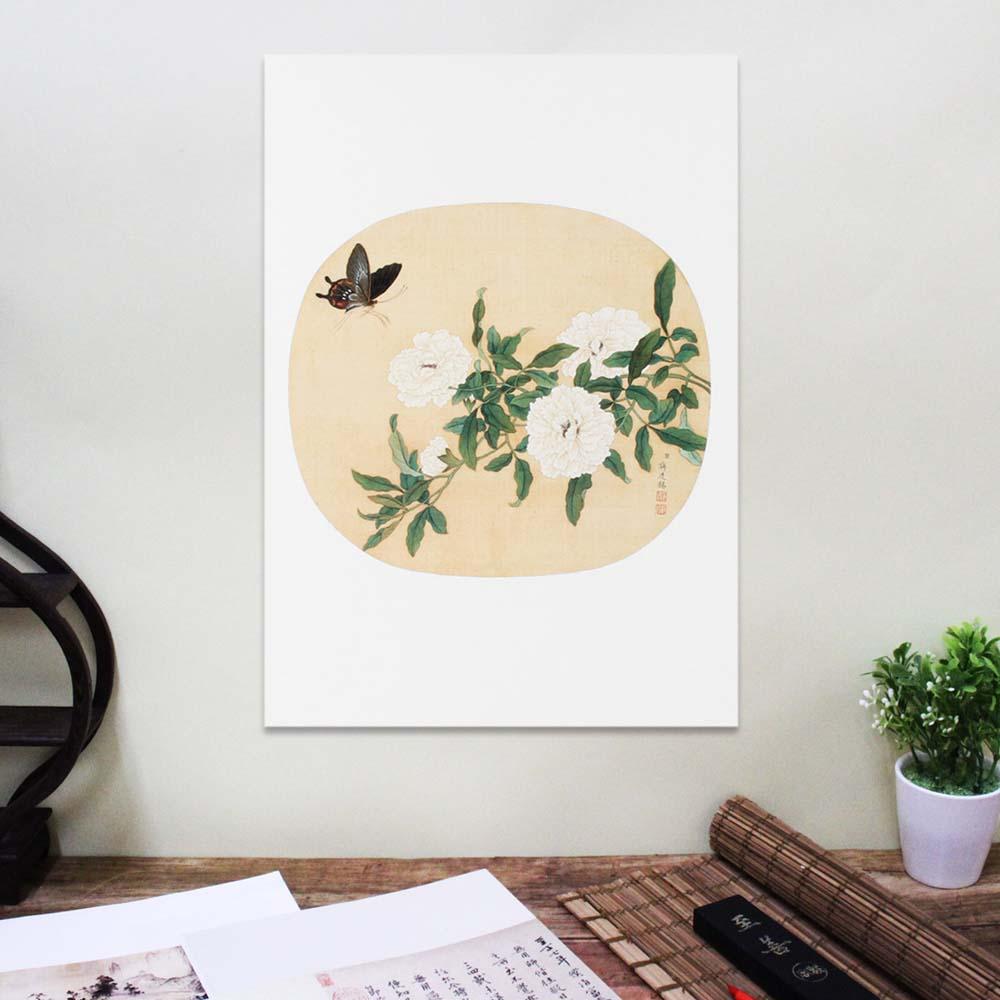 故宮精品 | 圖卡-蔣延錫 花卉(牡丹)