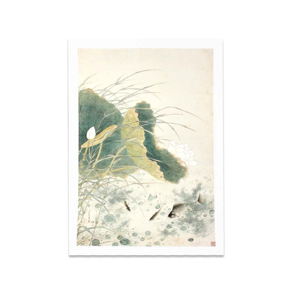 故宮精品 | 圖卡-蓮塘魚戲