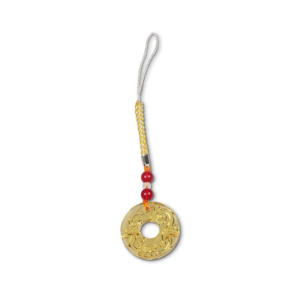 故宮精品   螭紋璧(琥珀)吊飾