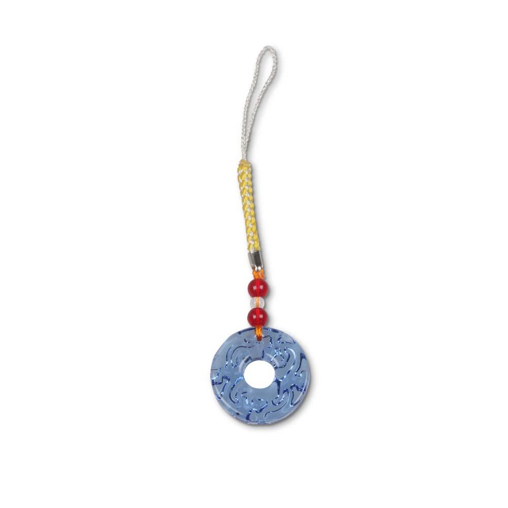 故宮精品   螭紋璧(水藍)吊飾