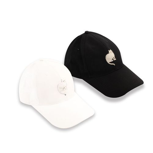 故宮精品 耄耋同春菊葵棒球帽-白