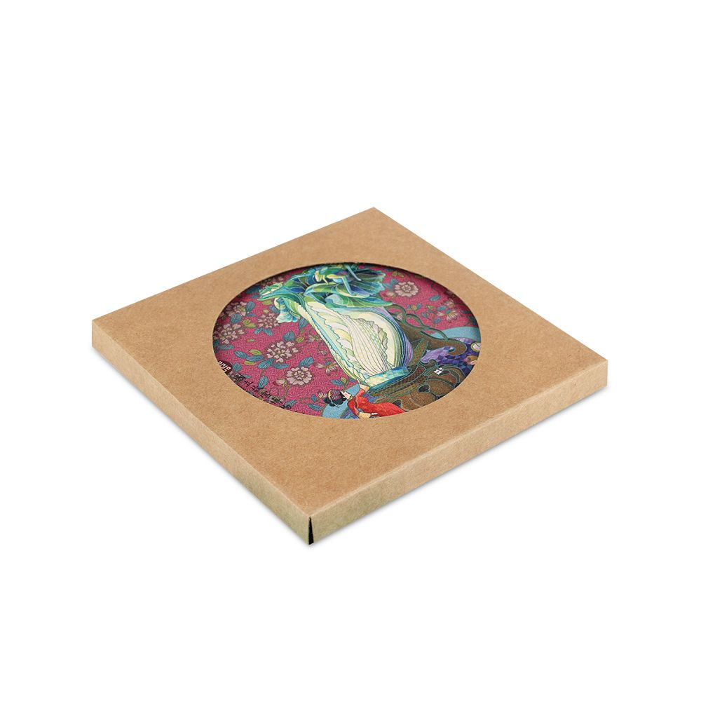 故宮精品 杯墊─翠玉白菜