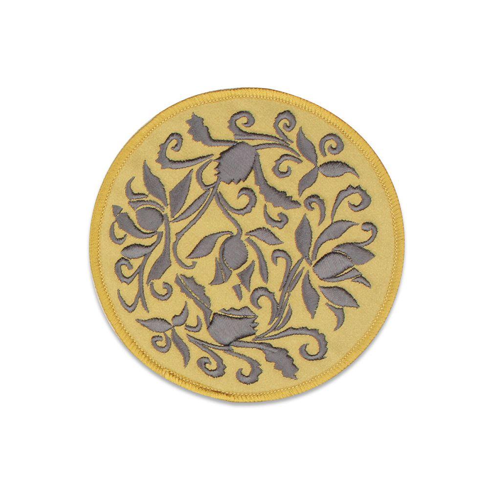 故宮精品|蓮瓣劃花盤杯墊-金