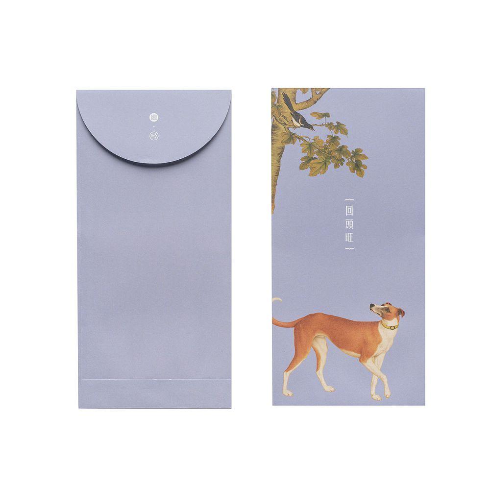 故宮精品 郎世寧系列·回頭旺 萬用袋(單色6入)
