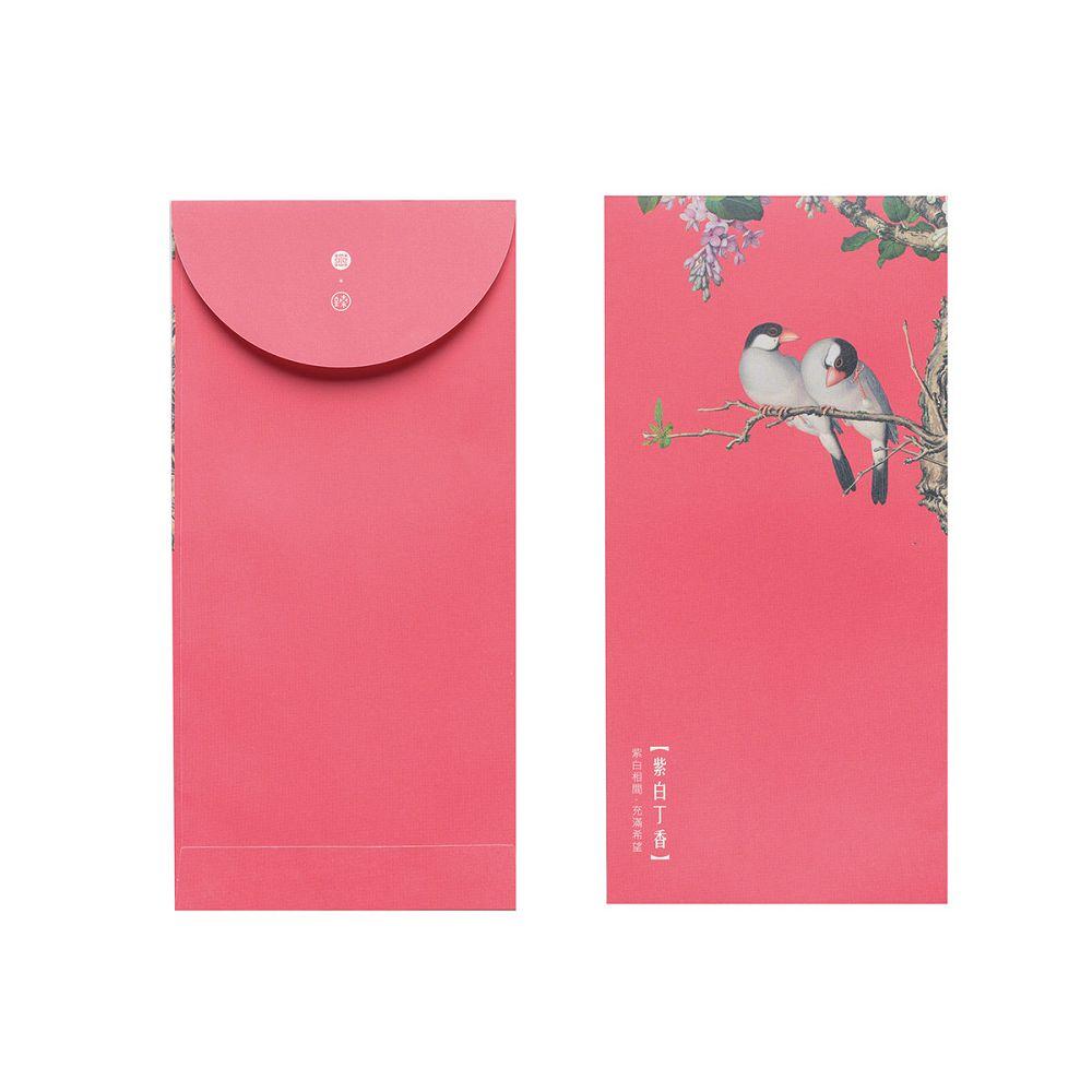 故宮精品|仙萼長春·紫白丁香 萬用袋(單色6入)