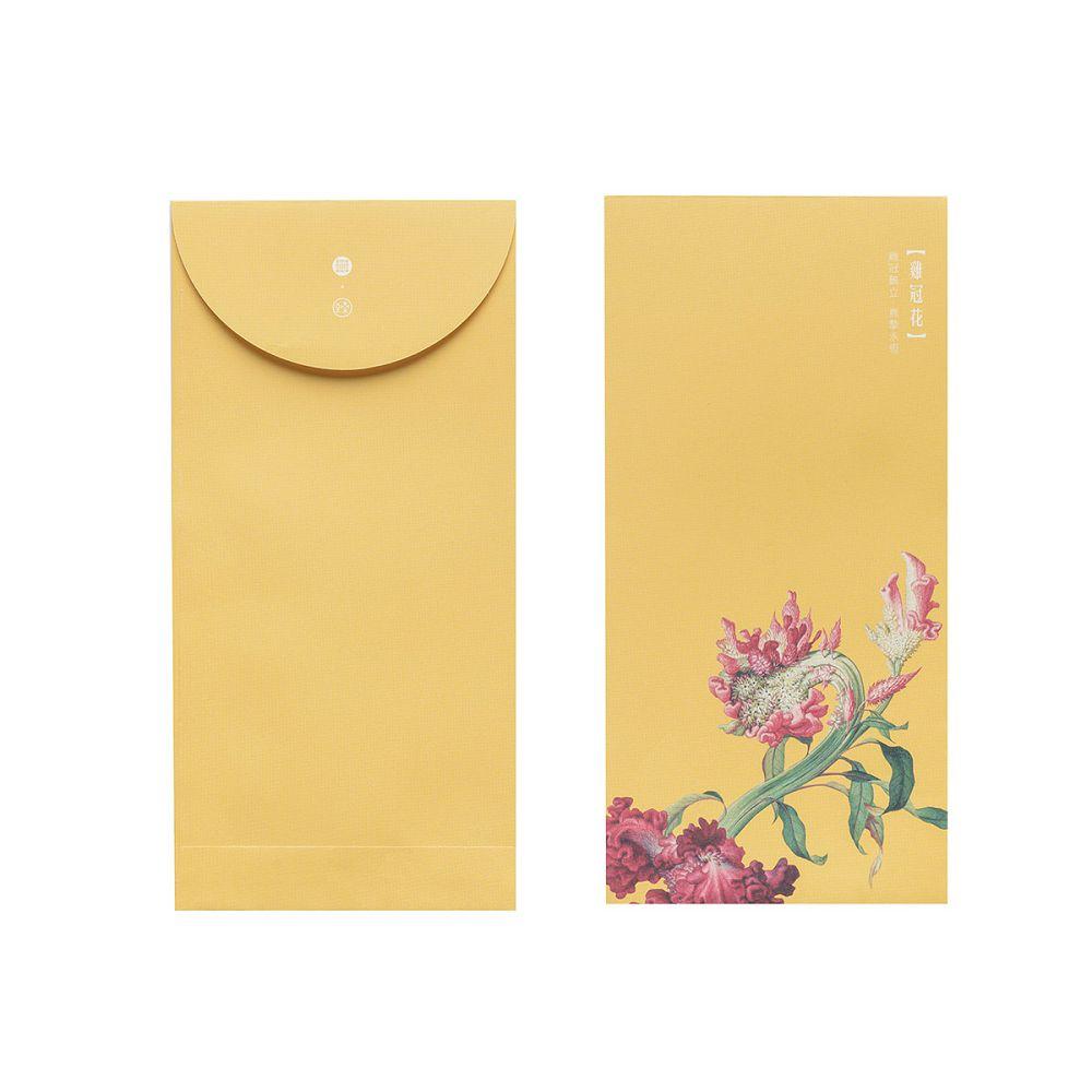 故宮精品|仙萼長春·雞冠花 萬用袋(單色6入)