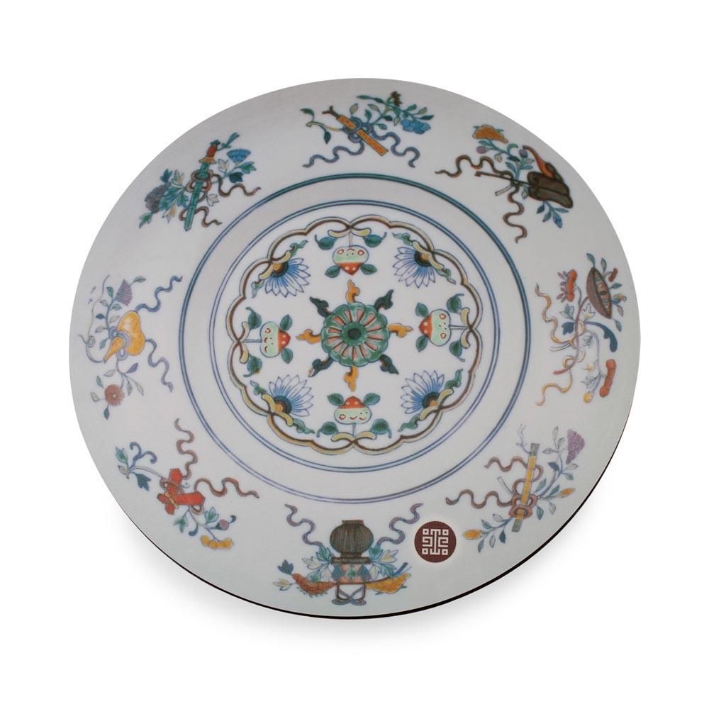 故宮精品   瓷圖桌墊-八寶