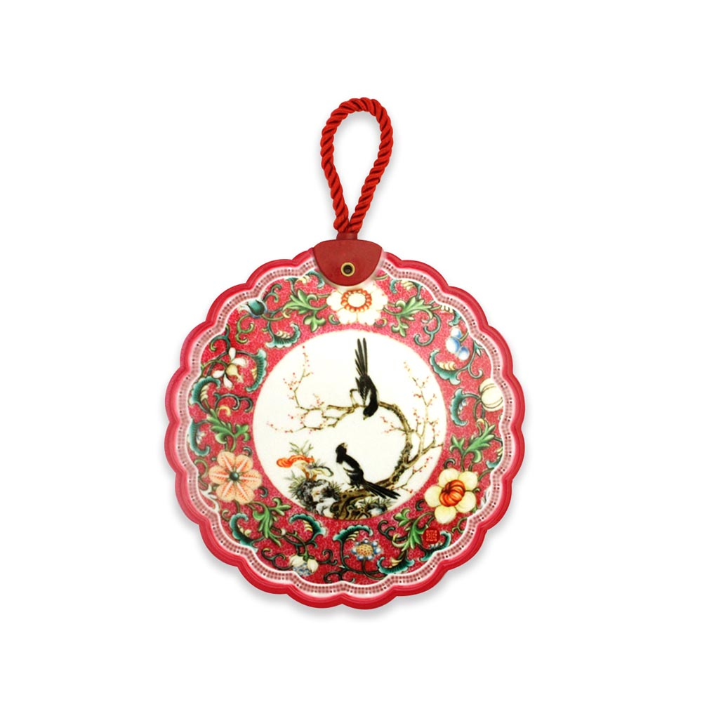故宮精品 | 陶瓷隔熱墊開光花鳥