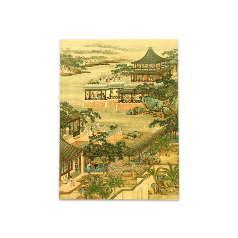 故宮精品   明信片-十二月月令圖 八月