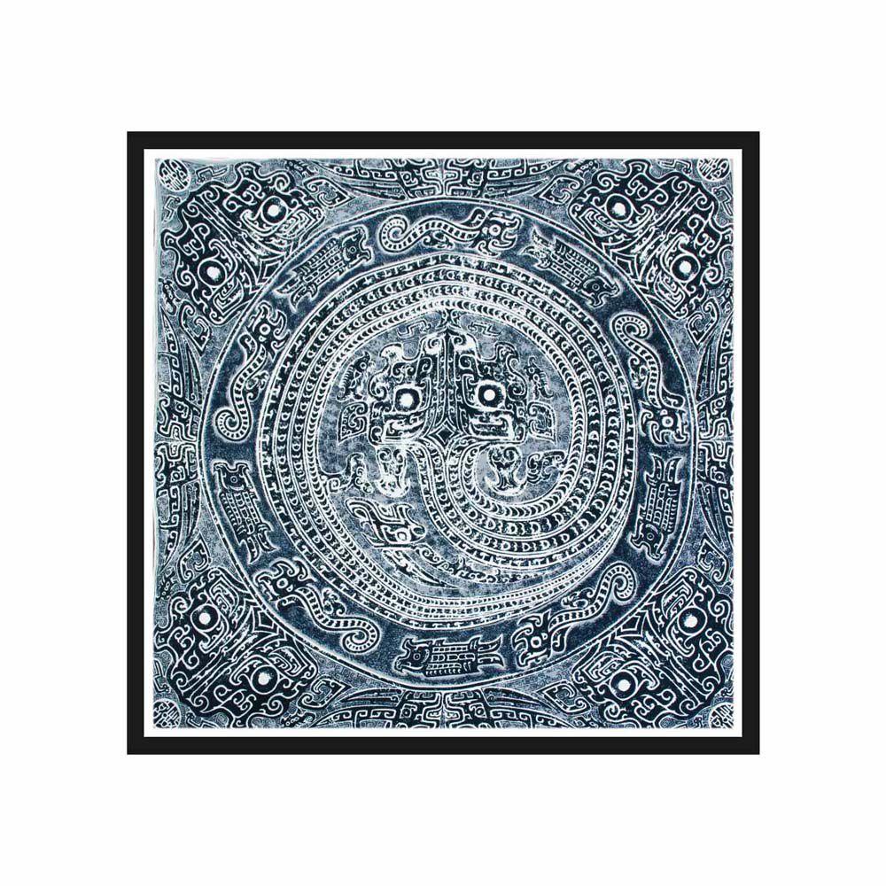 故宮精品 | 蟠龍紋盤絲巾 (黑)